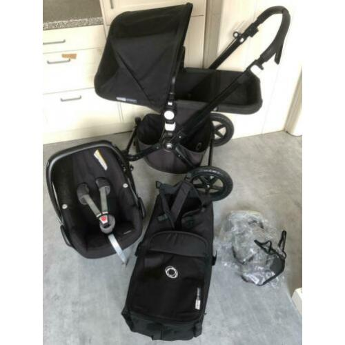 Nette Bugaboo Cameleon 3 kinderwagen all black edition 3in1