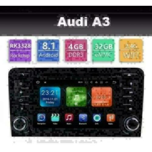 Audi A4 A3 radio navigatie wifi android 8.1 carplay dab+ usb